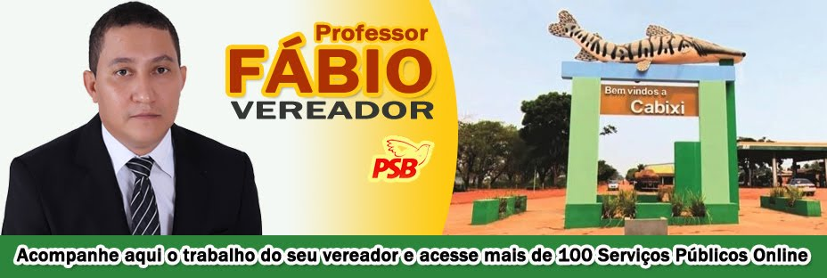 Professor Fábio - Vereador de Cabixi-RO