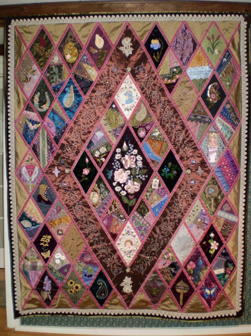 Betty Pillsbury & Green Spiral Herbs: Crazy Quilt Classes by Betty ... : antique crazy quilt - Adamdwight.com