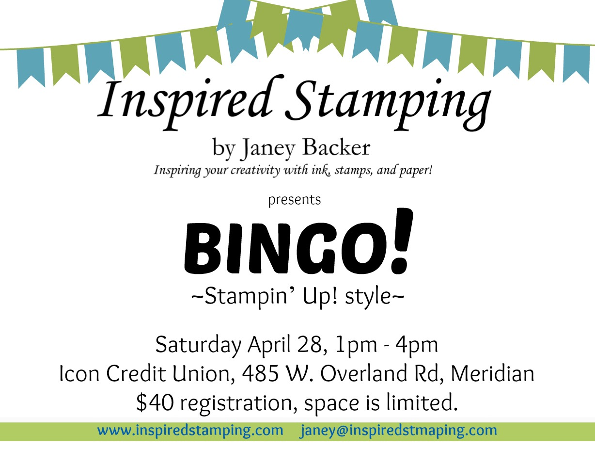 Stampin' Bingo - April 28