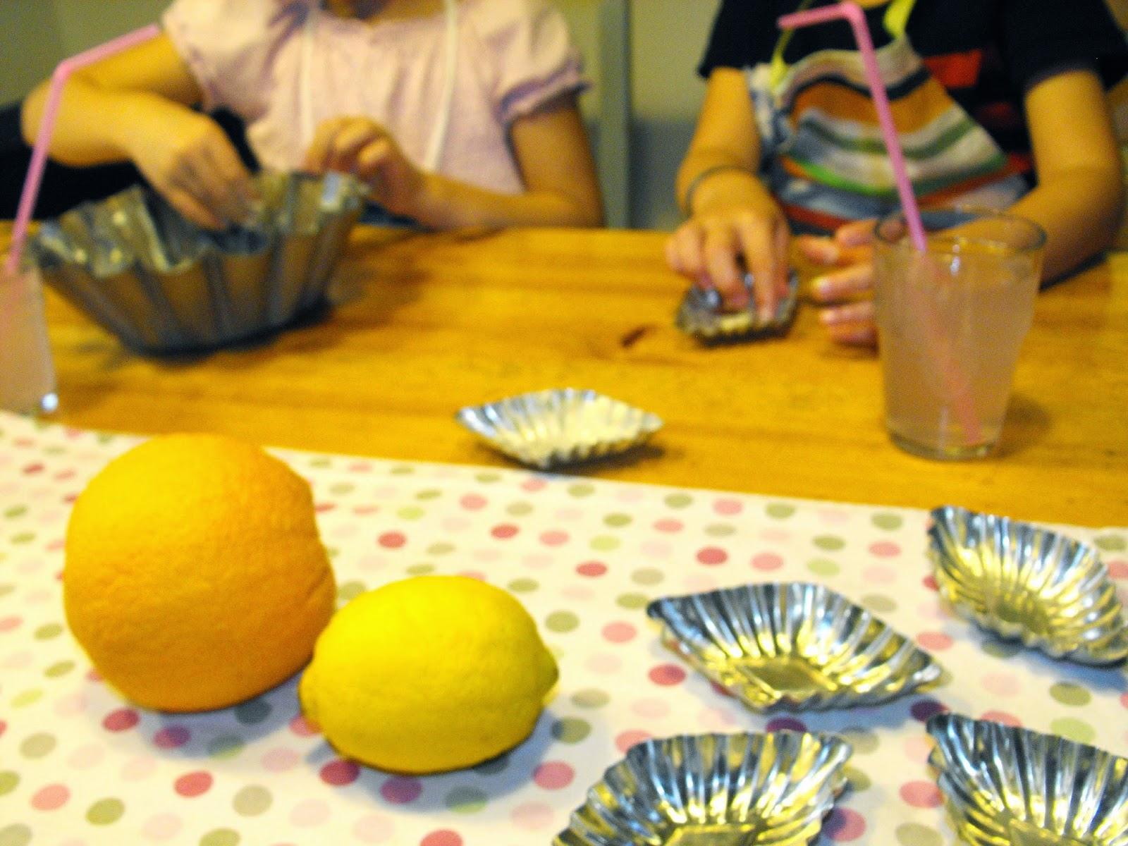 Baka med barnen, Sösdala, citronpaj, sockerkaka, apelsin