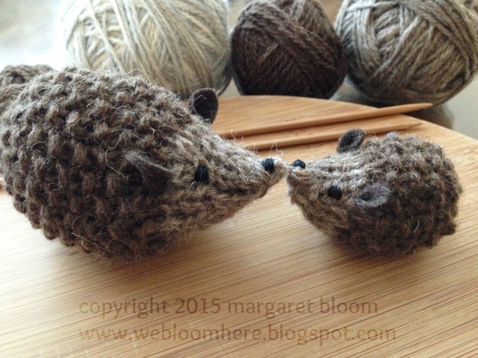 Knitting Patterns For Forest Animals : we bloom here: hans my hedghog