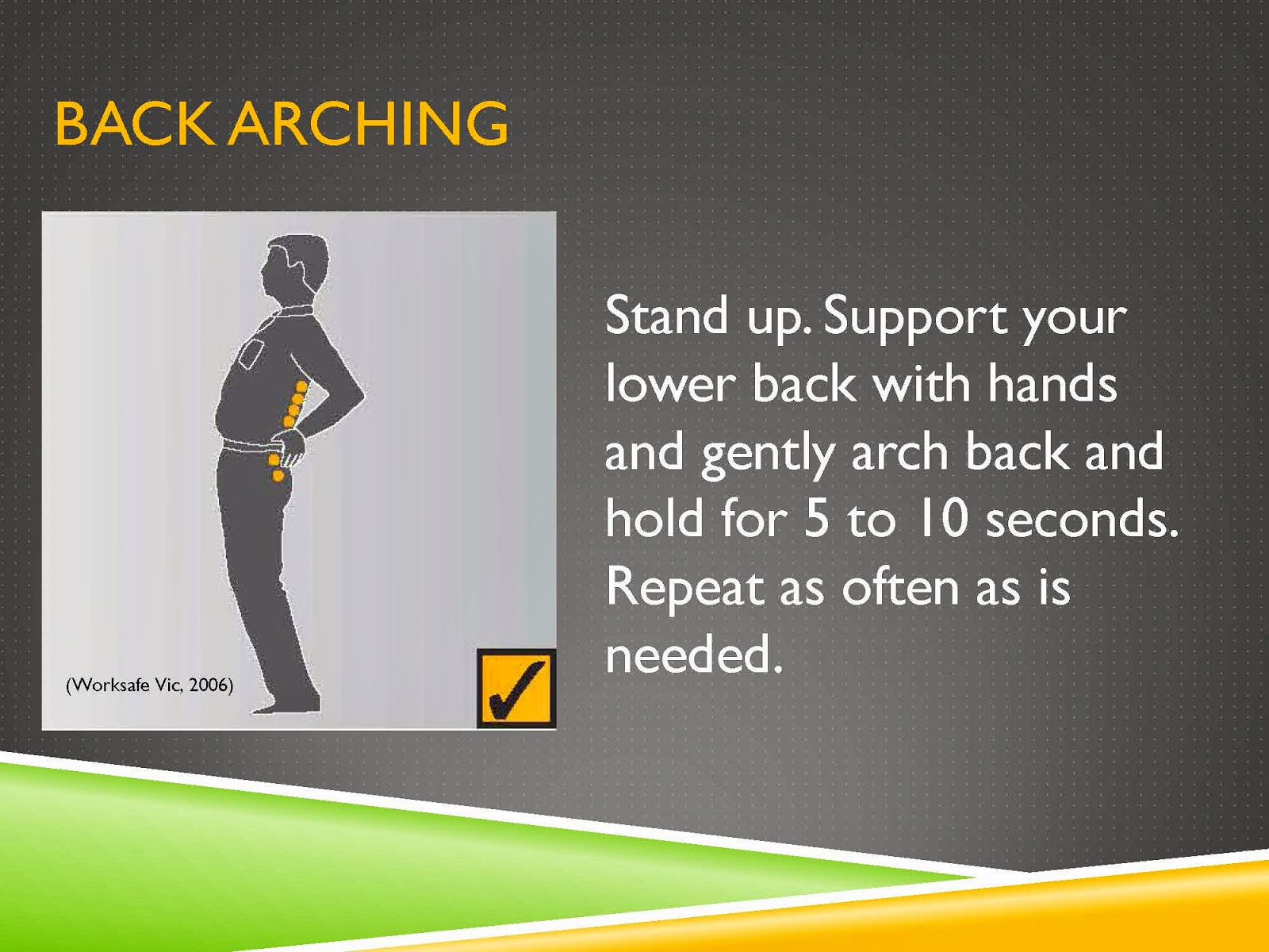BACK SUPPORT EXERCISES