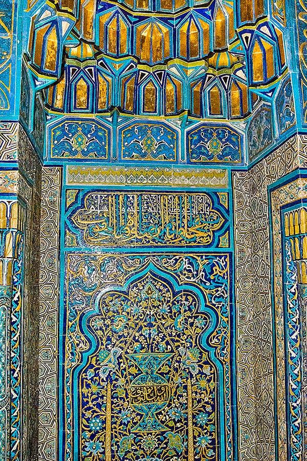 tiled mihrab in Yeşil Türbe
