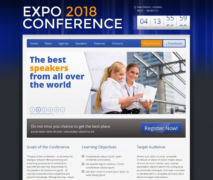 Expo18 Responsive Event Conference WordPress Theme