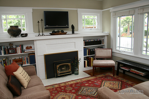 I married a tree hugger built in fireplace inspiration for Decorating 1920s bungalow