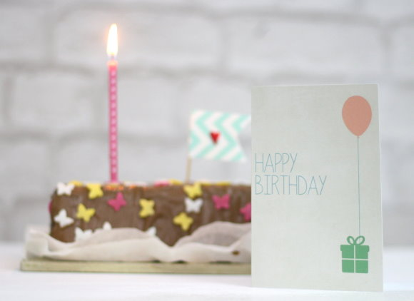 Kostenlose Geburtstagskarte - free printable