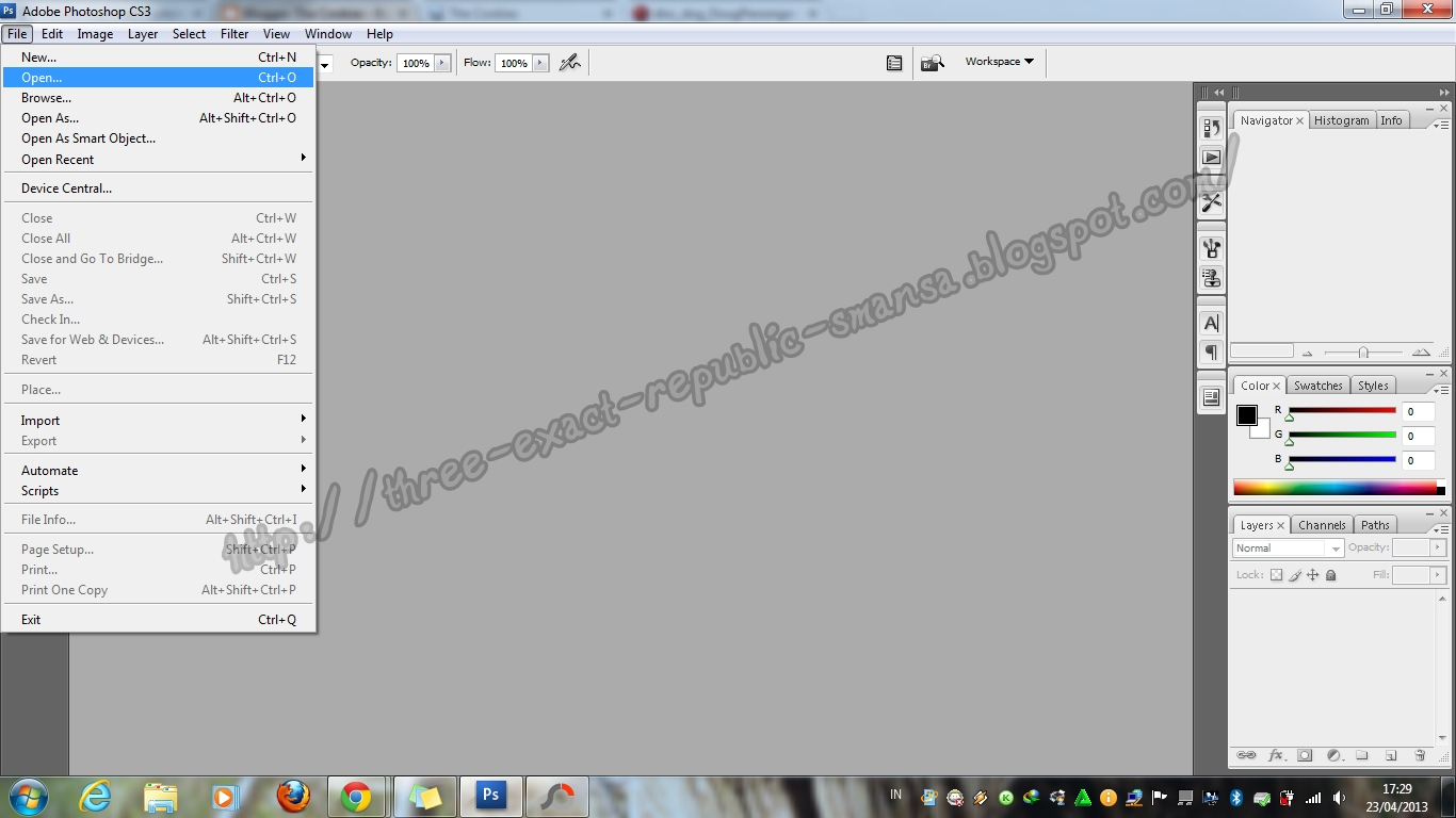 Cara Membuat Foto Out Of Bounds Menggunakan Photoshop CS3