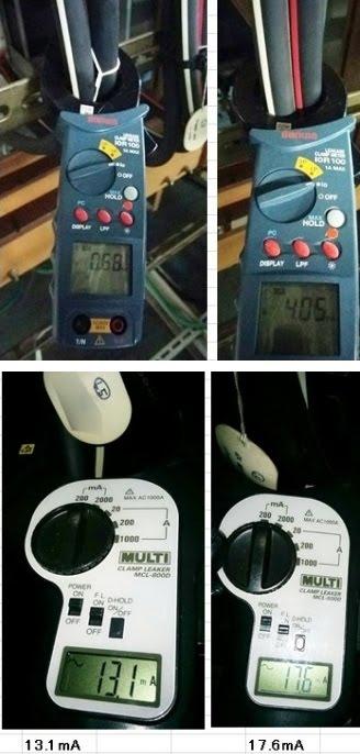 幹線漏れ電流測定_(毎月測定推奨)<br>幹線I0が上昇する事で変圧器漏れ電流も増加する。<br>幹線の絶縁劣化は屋内配線では通常稀です。