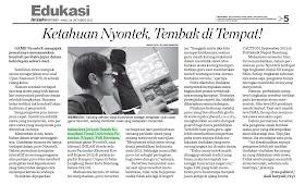 Liputan Game NyonteX di INILAH KORAN (terbitan 24 Oktober 2012)