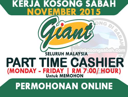 Kerja Kosong Part Time Cashier Isnin Jumaat Giant Jawatan Kosong Terkini Negeri Sabah