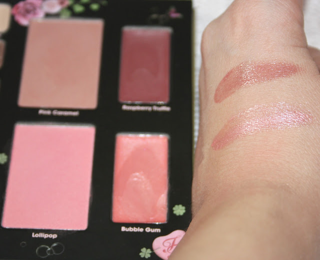 Too Faced love sweet love palette swatches