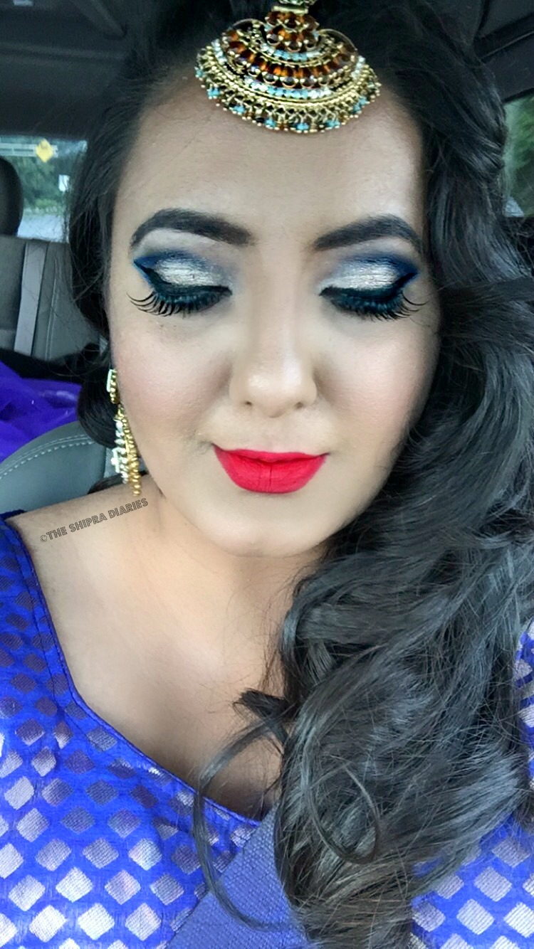 Grwm Indian Party Full Glam Hair And Makeup The Shipra Diaries