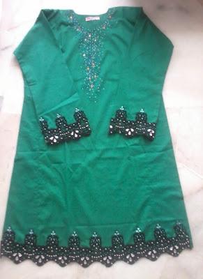 Fesyen Baju Raya 2013 ( Renda Tampal)