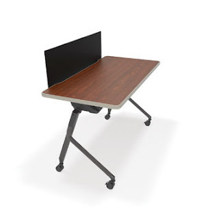 OFM Mesa Training Table with Privacy Panel