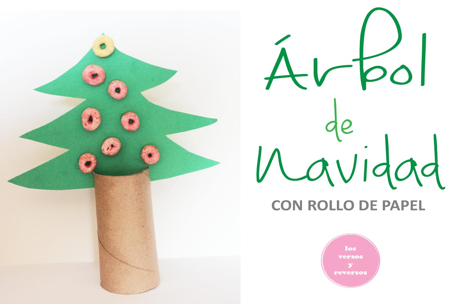 Rbol de navidad con rollo de papel los versos y reversos - Arbol de navidad con papel ...