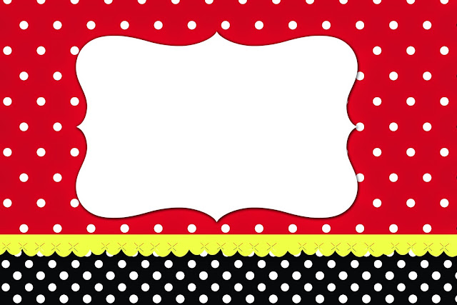 Red Black And White Polka Dots Free Printable