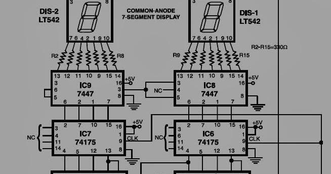 electro zone  rangkaian spedometer digital