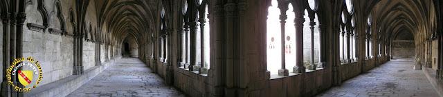 Toul - Cathédrale Saint-Etienne : Galerie est et sud du cloître