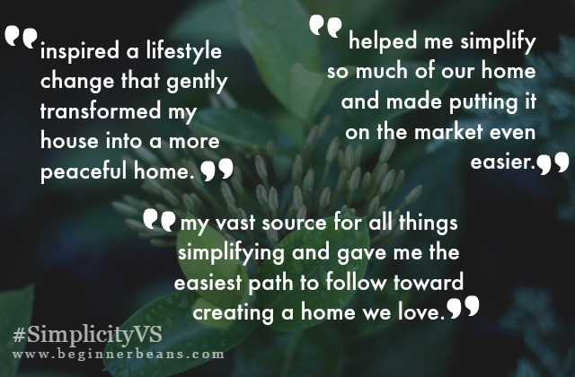 Testimonials for Simplifying Home