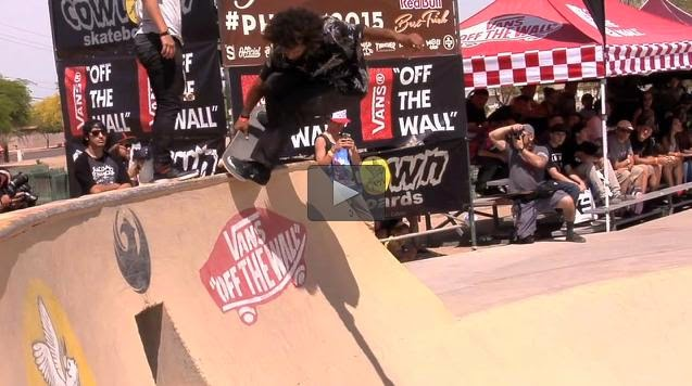 http://skateboarding.transworld.net/videos/phoenix-am-2015-bones-bearings/#ELbGbY69J6F2MOvz.97