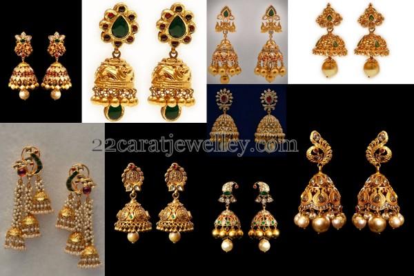 Trendy Jhumkas by Mor Jewellers
