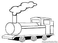 Lembar Mewarnai Gambar Kereta Api