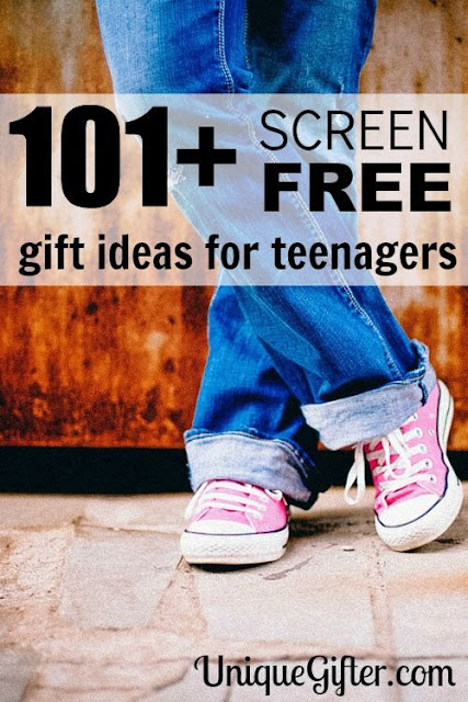 http://uniquegifter.com/101-screen-free-gifts-for-teens/