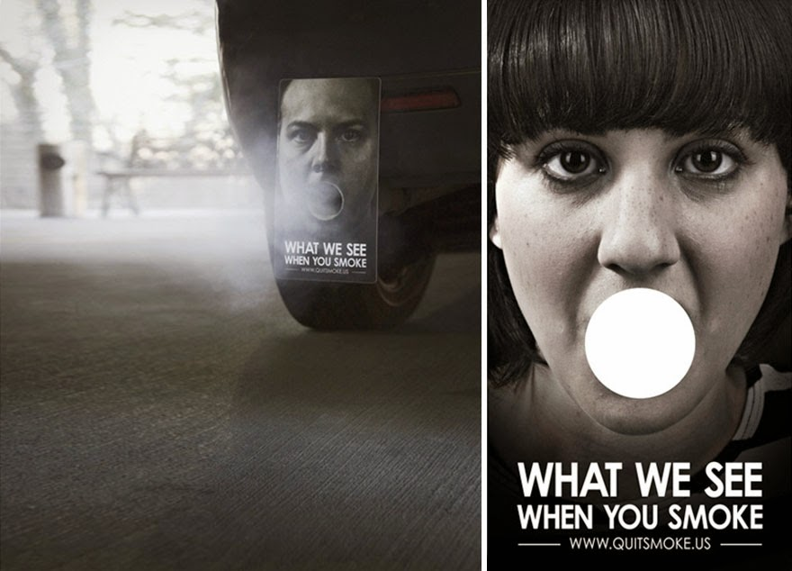 40 Of The Most Powerful Social Issue Ads That'll Make You Stop And Think - What We See When You Smoke