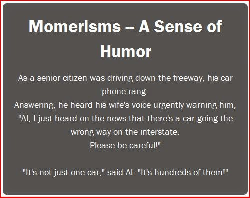 Momerisms A Sense of Humor