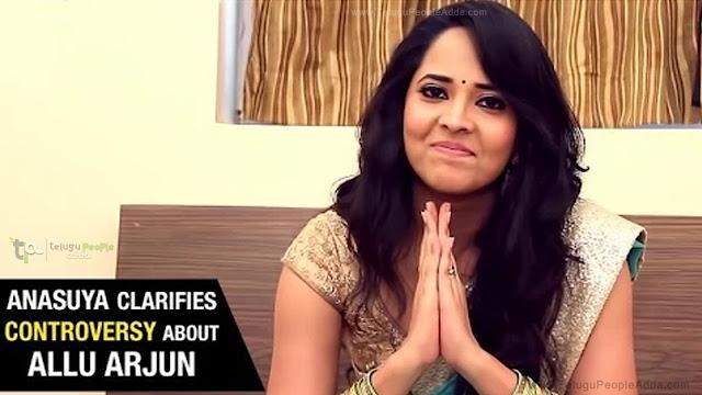 Anasuya Clarifies Allu Arjun Controversy