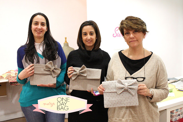 Taller monográfico ONE DAY BAG en Sweet sixteen craft store Madrid