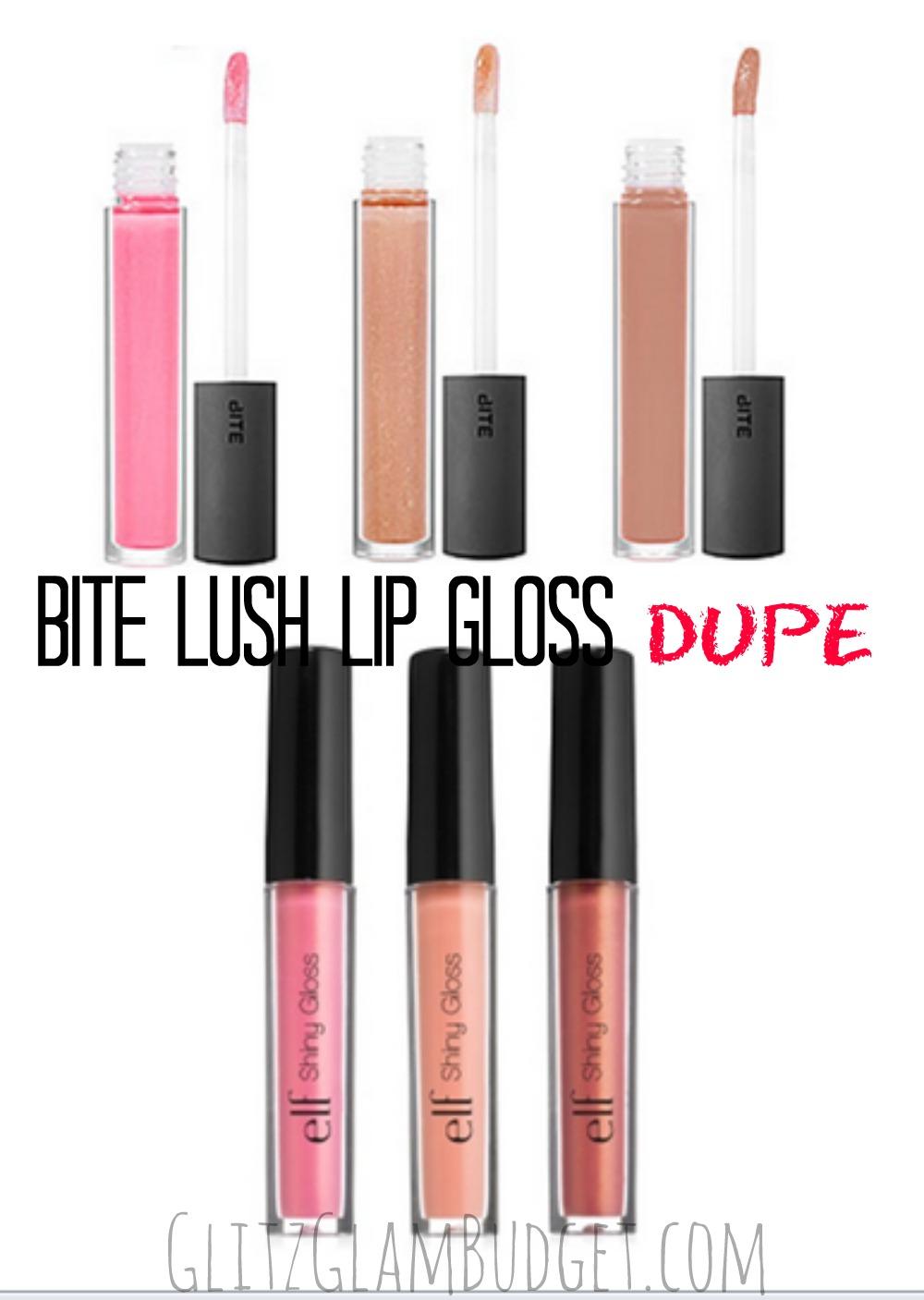 BITE Lush Lip Gloss Cheaper Alternative