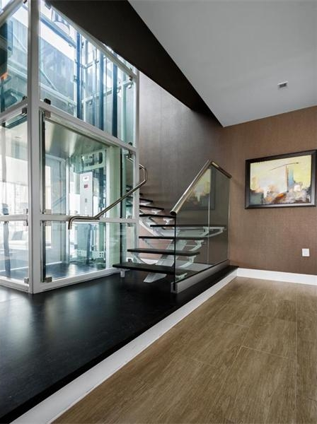 Photo of area with private elevator inside of Philadelphia penthouse