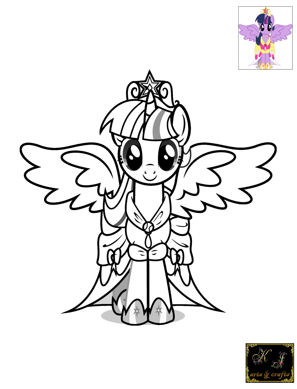 Coloring Pages Of Princess Twilight Sparkle : Kj coloring pages twilight sparkle