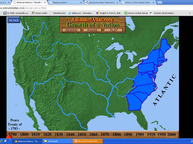 Today In Social Sciences Expansion And The Beginning Of The - Interactive map of us expansion