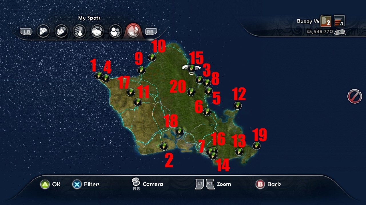 Gamilk: TDU2:Photographer(Find the 20 viewpoints on Hawaii)
