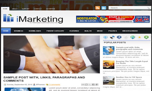 iMarketing Blogger Template