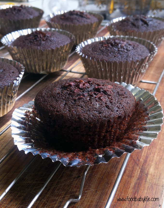 Rich Chocolate Cupcakes (Wheat free, Dairy free, Egg free, Fructose Free) © www.foodbabylife.com