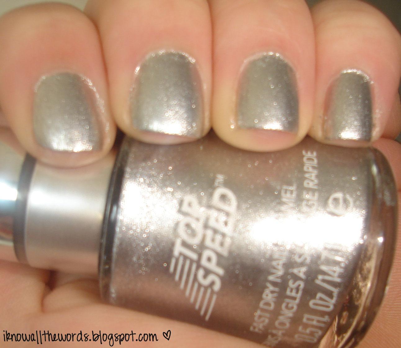 Metallic Nail Polish Silver: Review: Revlon Top Speed Nail Enamel In Metallic
