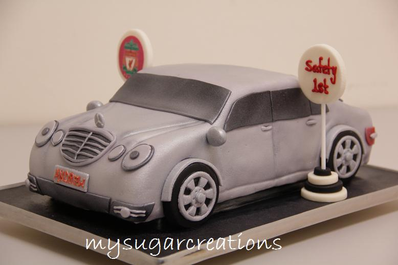 My sugar creations 001943746 m mercedes car cake for Mercedes benz cake design
