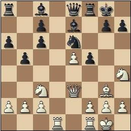 Partida de ajedrez Kurajica vs. Tukmakov en 1965, posición después de 16...f5?!