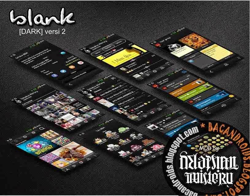 BBM Dual Mod Blank Thema Dark V2 Apk Klone