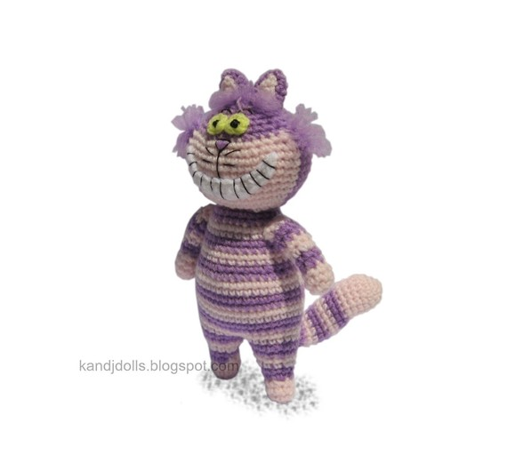 Cheshire Cat Amigurumi Crochet Pattern : Amigurumi Pattern - Cheshire Cat (Crochet Doll Pattern) eBay