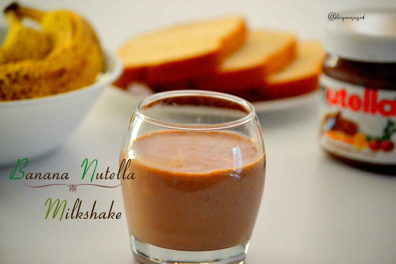 how to make a nutella banana milkshake