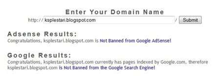 Cara Mudah Mengetahui Blog-Web Kena Banned