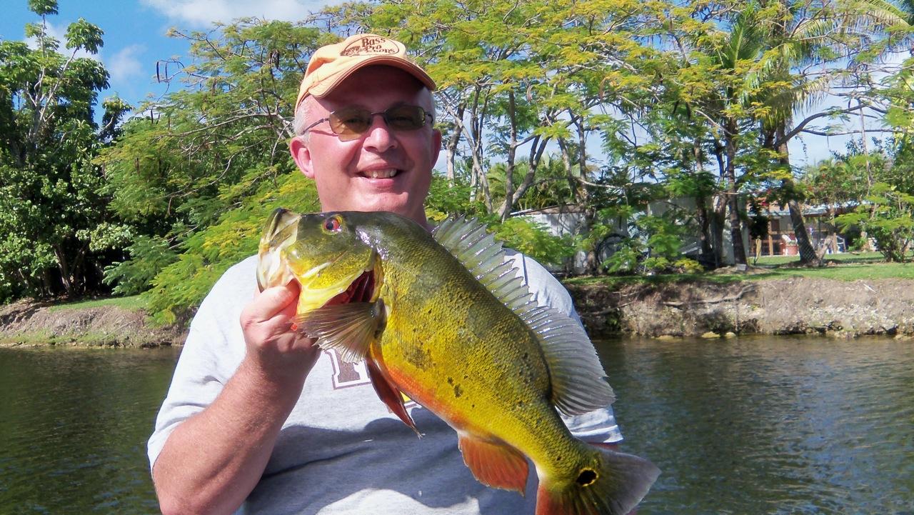 Greg fairbrother peacock bass fishing in miami for Peacock bass fishing miami