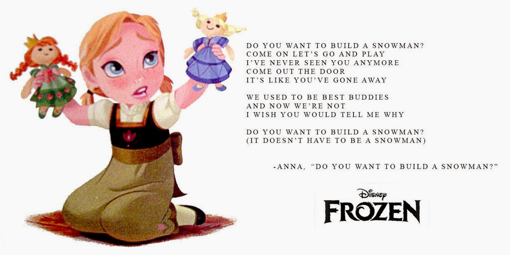 Year old anna elsa knocks do you want to build a snowman