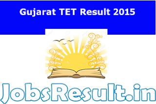 Gujarat TET Result 2015