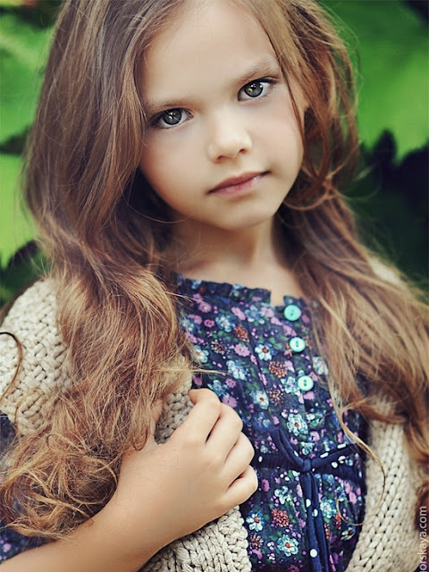peinados infantiles con ondas