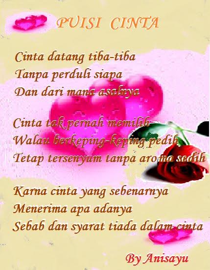 """Puisi Cinta By Anisayu Romantis Terbaru"""""""